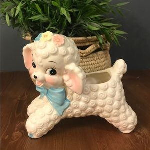 Kitschy Lamb Ceramic Planter Ceramic Ruben